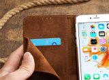 Rétro caisse de téléphone de chiquenaude de cuir d'emboîtement d'abeille pour l'iPhone 7