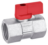 Mini de bronze Ball Valve BV-1620 com Aluminium Handle M/M