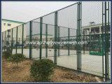 PVCは運動場のための溶接された金網のチェーン・リンクの塀に電流を通した