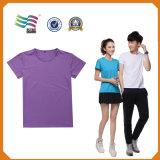 최신 판매 호리호리한 적합 간결 소매에 의하여 인쇄되는 t-셔츠 인쇄 (HYT-s 022)
