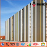 paneles de revestimiento de aluminio de la capa de la pared de cortina de 4m m 0.5m m PVDF
