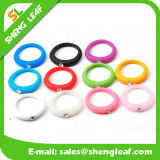 Manera personalizada que hace publicidad de los anillos de dedo coloridos del silicón (SLF-SR021)