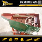 Piccola estrazione mineraria del minerale metallifero che elabora il separatore minerale della maschera dell'oro del concentratore di gravità