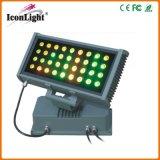 Quadratische 36X3w RGB im Freien LED Wand-Unterlegscheibe der Leistungs-