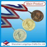 Médailles en métal de bronze d'argent d'or de médaille de récompense de sport à vendre
