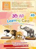 Stereokarte der Magie-3D spielt das Karten vergrößerte Spiel der Wirklichkeits-60PCS, das früh pädagogisches interaktives pädagogisches Spiel erlernt