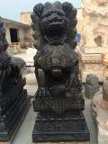 Come intagliare una coppia leone di scultura di pietra di marmo/del granito delle sculture da vendere