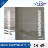 De nieuwe Moderne Muur zette Lichte Zilveren leiden van de Spiegel van de Badkamers op
