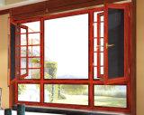Ausgeglichenes doppeltes glasig-glänzendes Fenster mit hölzerner Farbe (XA015)