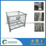 Contenitori galvanizzati memoria della rete metallica del magazzino nel tipo di sollevamento