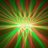 4 головки красная и зеленого лазерный луч диско