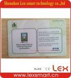 smart card sem contato Rewritable do plástico da microplaqueta da capacidade de armazenamento 1k CI