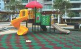 Azulejo de goma cuadrado/al aire libre de /Recycle, pavimentadora de goma colorida
