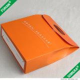 Orange Farben-Papflacher Verpackungs-Geschenk-Kasten