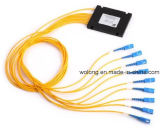1X32 divisor óptico de la fibra de la placa del parte movible del Sc APC (caja terminal del wdm CATV ODF)