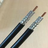 Cuivre nu, câble coaxial de liaison de l'ohm 7D-Fb de la jupe de PVC 50 pour le système de télécommunication de CDMA
