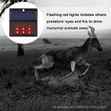 태양 강화된 LED 약탈자 제지하는 가벼운 동물성 Repeller 센서 램프