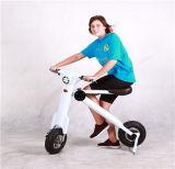 Foldable電気スクーターの携帯用電気2つの車輪のスクーター電気バイクと王の手段