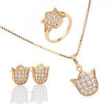 Комплект ювелирных изделий стерлингового серебра ювелирных изделий 925 способа Кореи