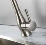 Robinet à levier unique matériel de bassin de cuisine d'acier inoxydable de Wotai