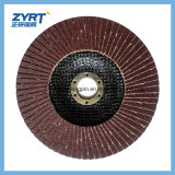 La solapa de pulido del metal rueda el disco de la solapa