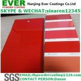 Enduit électrostatique de poudre de la couleur rouge Ral3020 de jet