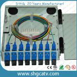 4-8 rectángulo terminal óptico de la fibra del metal FTTH de los adaptadores del Sc (FTB-M4-4SC)