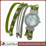 형식 도매 진짜 가죽 시계 석영 시계 여자의 시계