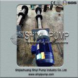 수직 고무에 의하여 일렬로 세워지는 물 처리 원심 스핀들 집수 슬러리 펌프