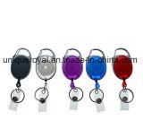 Identifikation-erstklassige einziehbare Abzeichen-Bandspulen mit Schlüsselring-und Abzeichen-Brücke