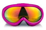 Lunettes de l'hiver de lentille de PC de regain en verre de sports anti pour le surf sur neige