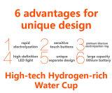 Bottiglia Idrogeno-Ricca dell'inseguitore del creatore dell'acqua di alta qualità con l'indicatore luminoso del LED
