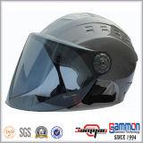 De koele Glanzende Zilveren Halve Helm van de Zomer van het Gezicht (HF318)