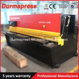 높은 정밀도 QC12y-6*3200mm 유압 그네 광속 깎는 기계, CNC 절단기 가격