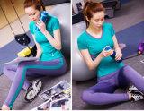 Caneleiras emendadas Spandex da ioga do comprimento do tornozelo do nylon 15% do chique 85% com logotipo feito sob encomenda