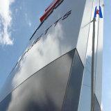 El panel compuesto de aluminio del alto lustre popular