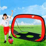 휴대용 축구 목표가 1에서 2에 의하여 아이 실행 갑자기 나타난다