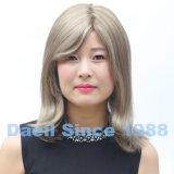 Alta parrucca chiara dei capelli umani con la parte superiore legata mano 5*5