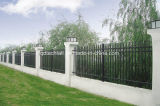 загородка ковки чугуна черного порошка 2400X2100mm покрынная гальванизированная стальная для сада/виллы