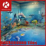 tuiles Polished de mur de porcelaine de fond matériel de décoration du monde de la mer 3D