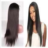 Stock에 있는 자연적인 Hairline Human Hair Lace Wigs
