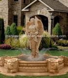 Fonte de água de pedra natural da senhora Estátua Mármore do jardim (SY-F108)