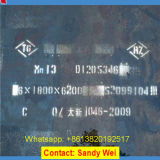 Placa de aço elevada K700 de manganês de X120mn12 Hadfield En1.3401