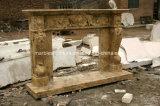 Бежевый камин мрамора травертина для крытого украшения Sy-Mf313