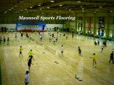 O PVC interno ostenta o revestimento para cortes de Badminton