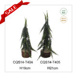 mestiere verde artificiale di natale della decorazione della casa dell'albero di Natale del PE di 21cm