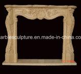 Bordadura de mármore da chaminé da escultura (SY-MF033)