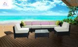 Sofa sectionnel en osier de patio de patio de Rio de sofa extérieur réglé de rotin
