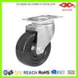 100mm Swivel Plate con Side Brake Hard Rubber Castor (P120-53B100X32Z)