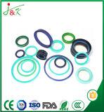 De O-ring van Viton EPDM van het silicone met Vaste het Verzegelen Functie wordt geplaatst die
